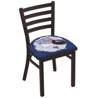 Holland Bar Stool L00418NYRang-D2 Black Steel New York Rangers Chair with Ladder Back and Padded Seat