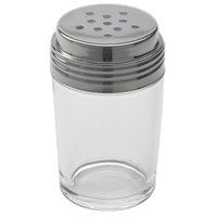 American Metalcraft 4407 6 oz. Clear Glass Contemporary Spice Shaker with Stainless Steel Top