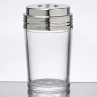 American Metalcraft 4407 6 oz. Clear Glass Contemporary Spice Shaker with Stainless Steel Top and Extra Large Holes