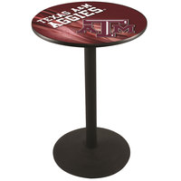 Holland Bar Stool L214B3628TEXA-M-D2 28 inch Round Texas A&M Pub Table with Round Base