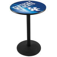 Holland Bar Stool L214B3628UKY-UK-D2 28 inch Round University of Kentucky Pub Table with Round Base