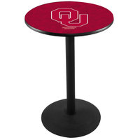 Holland Bar Stool L214B36OKLHMA 28 inch Round University of Oklahoma Pub Table with Round Base