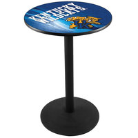 Holland Bar Stool L214B3628UKYCAT-D2 28 inch Round University of Kentucky Pub Table with Round Base