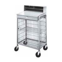 Winholt OTE-2227E1-GY Gray Steel Enclosed Wire Mesh Receiving / Shop Desk