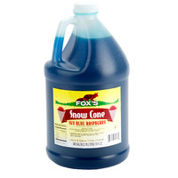 Fox's Sky Blue Raspberry Snow Cone Syrup 1 Gallon