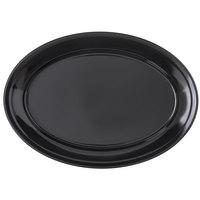 Carlisle 4356003 Dallas Ware 12 inch x 8 1/2 inch Black Oval Platter - 24/Case