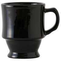 Tuxton BBM-0809 DuraTux 8 oz. Black Tower Mug - 24/Case