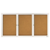 Quartet 2366 72 inch x 36 inch Silver Enclosed Aluminum Bulletin Board