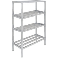 Channel ED2060-4 60 inch x 20 inch x 64 inch Four Shelf Aluminum Dunnage Shelving Unit - 2200 lb. capacity