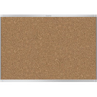 Quartet MC247AP2 72 inch x 48 inch Prestige 2 Magnetic Cork Bulletin Board with Aluminum Frame