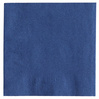Choice 10 inch x 10 inch Customizable Navy Blue 2-Ply Beverage / Cocktail Napkins - 1000/Case