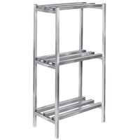 Channel DR2442-3 42 inch x 24 inch x 64 inch Three Shelf Aluminum Dunnage Shelving Unit - 2500 lb. capacity