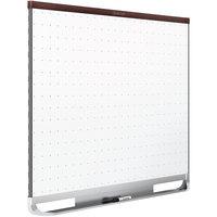 Quartet TEM544M 48 inch x 36 inch Prestige 2 Total Erase Magnetic Dry Erase Board with Mahogany Frame