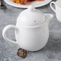 Syracuse 911190040 International 15 oz. Bone China Tea Pot with Lid - 12/Case