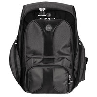 Kensington 62238 15 3/4 inch x 9 inch x 19 1/2 inch Black Nylon Contour Laptop Case / Backpack