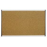 Quartet ARCB2414 24 inch x 14 inch Cork Board with Tan Aluminum Frame
