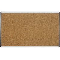 Quartet ARCB2414 24 inch x 14 inch Cork Board with Tan Aluminum Frame