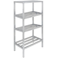 Channel ED2436-4 36 inch x 24 inch x 64 inch Four Shelf Aluminum Dunnage Shelving Unit - 2200 lb. capacity