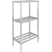 Channel ED2436-3 36 inch x 24 inch x 64 inch Three Shelf Aluminum Dunnage Shelving Unit - 2200 lb. capacity