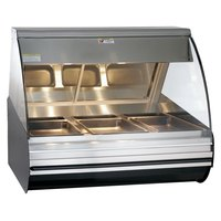 Alto-Shaam HN2-48 BK Black Heated Display Case with Curved Glass - Full Service 48 inch
