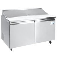 Avantco SS-PT-60-HC 60 inch 2 Door Stainless Steel Refrigerated Sandwich Prep Table