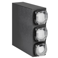 Vollrath H3V-LLL LidSaver™ 2 Countertop 3 Slot Vertical Black Shallow Lid Dispenser Cabinet