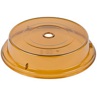 Cambro MDCPC9CW153 Camwear Camcover 9 1/8 inch Amber Low Profile Plate Cover   - 12/Case