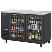 Turbo Air TBB-24-60SG-N Super Deluxe 61 1/8 inch Glass Door Narrow Back Bar Refrigerator