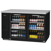 Turbo Air TBB-24-60SG-N Super Deluxe 61 inch Glass Door Narrow Back Bar Refrigerator