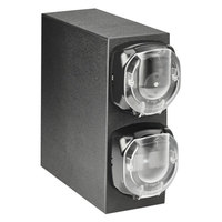 Vollrath J2V-LL LidSaver™ 2 Black Countertop Vertical 2 Slot Dispenser Cabinet for Portion Cups and Lids