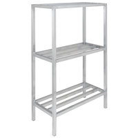 Channel ED2448-3 48 inch x 24 inch x 64 inch Three Shelf Aluminum Dunnage Shelving Unit - 2200 lb. capacity