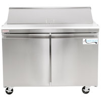 Avantco SS-PT-48-HC 48 inch 2 Door Stainless Steel Refrigerated Sandwich Prep Table