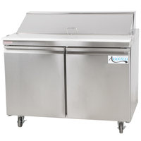 Avantco SS-PT-48-HC 46 3/4 inch 2 Door Stainless Steel Refrigerated Sandwich Prep Table