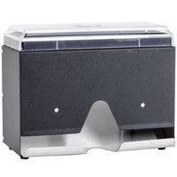 Vollrath 3815-06 Straw Boss Single Sided Wrapped Straw Dispenser - Black