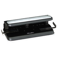 Swingline 74300 Easy Touch 32 Sheet Black and Gray 2-to-7 Hole Punch - 9/32 inch