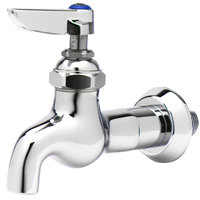 T&S B-0715 Single Sink Faucet with 1/2 inch NPT Male Inlet, Lever Handle, and Blue Index