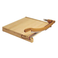Swingline 1142 ClassicCut Ingento 15 inch Square 15 Sheet Solid Maple Guillotine Paper Trimmer