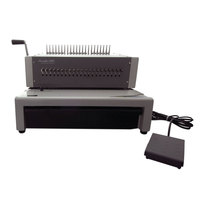 Swingline GBC 27170 CombBind C800pro Gray 500-Sheet Electric Binding Machine