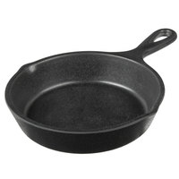 Elite Global Solutions MFP5 Illogical 5 inch Black Faux Cast Iron Melamine Fry Pan