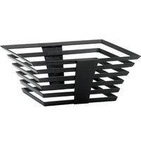 Cal-Mil 1466-5-13 Black Metal Elevation Riser - 12 inch x 12 inch x 7 inch