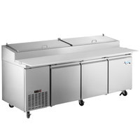 Avantco PICL3-HC 93 inch 3 Door Refrigerated Pizza Prep Table
