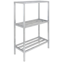 Channel ED2460-3 60 inch x 24 inch x 64 inch Three Shelf Aluminum Dunnage Shelving Unit - 2200 lb. capacity