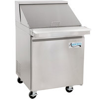 Avantco SS-PT-27M-HC 27 inch 1 Door Mega Top Stainless Steel Refrigerated Sandwich Prep Table