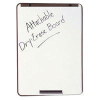 Quartet 21E7 40 inch x 29 inch White Melamine Dry Erase Board with Bronze Steel Frame