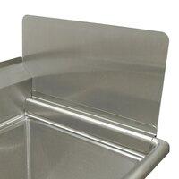 Advance Tabco K-700F-18 Removable Sink Side Splash - 18 inch x 12 inch