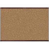 Quartet MC244MP2 48 inch x 36 inch Prestige 2 Magnetic Cork Bulletin Board with Mahogany Frame