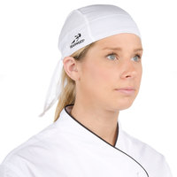 Headsweats 8800-801 White 100% Performance Fabric Adjustable Chef Bandana / Do Rag