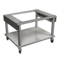 MagiKitch'n MK5225-1512010-C 60 inch x 26 1/2 inch Mobile Stainless Steel Equipment Stand with Undershelf