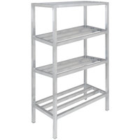 Channel ED2454-4 54 inch x 24 inch x 64 inch Four Shelf Aluminum Dunnage Shelving Unit - 2200 lb. capacity
