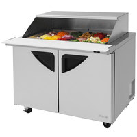 Turbo Air TST-48SD-18-SL 48 inch 2 Door Mega Top Sliding Lid Refrigerated Sandwich Prep Table